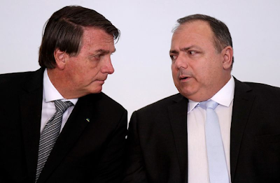 """Pazuello  contradiz Bolsonaro: """"Pandemia não acabou"""""""