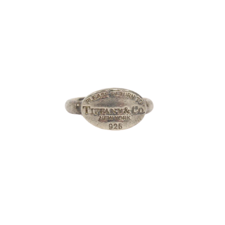 Tiffany & Co. Sterling Silver  'Please Return To' Ring