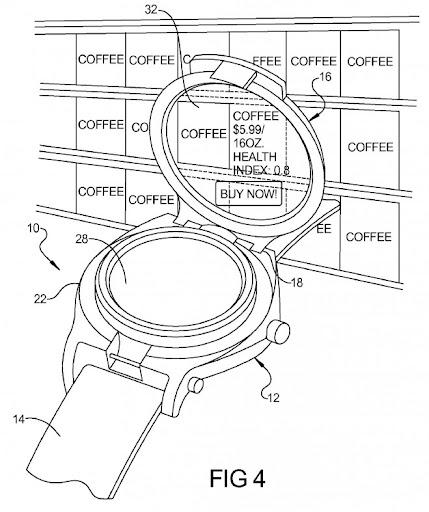 Google patentó un Reloj Inteligente con realidad aumentada