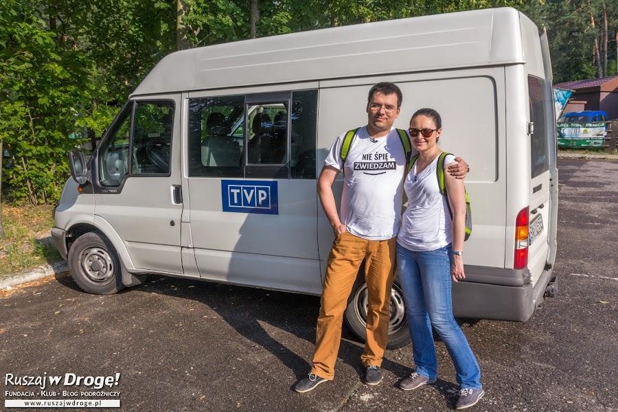 Ruszaj w Drogę przed wozem TVP programu Lato w Regionach