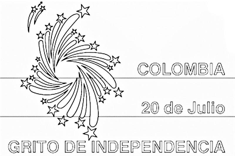 Día de la independencia de Colombia para colorear 20 de Julio para colorear