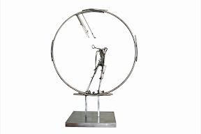 심정수, 거울, 2008(1981), 172 x 132 x 68cm, stainless steel