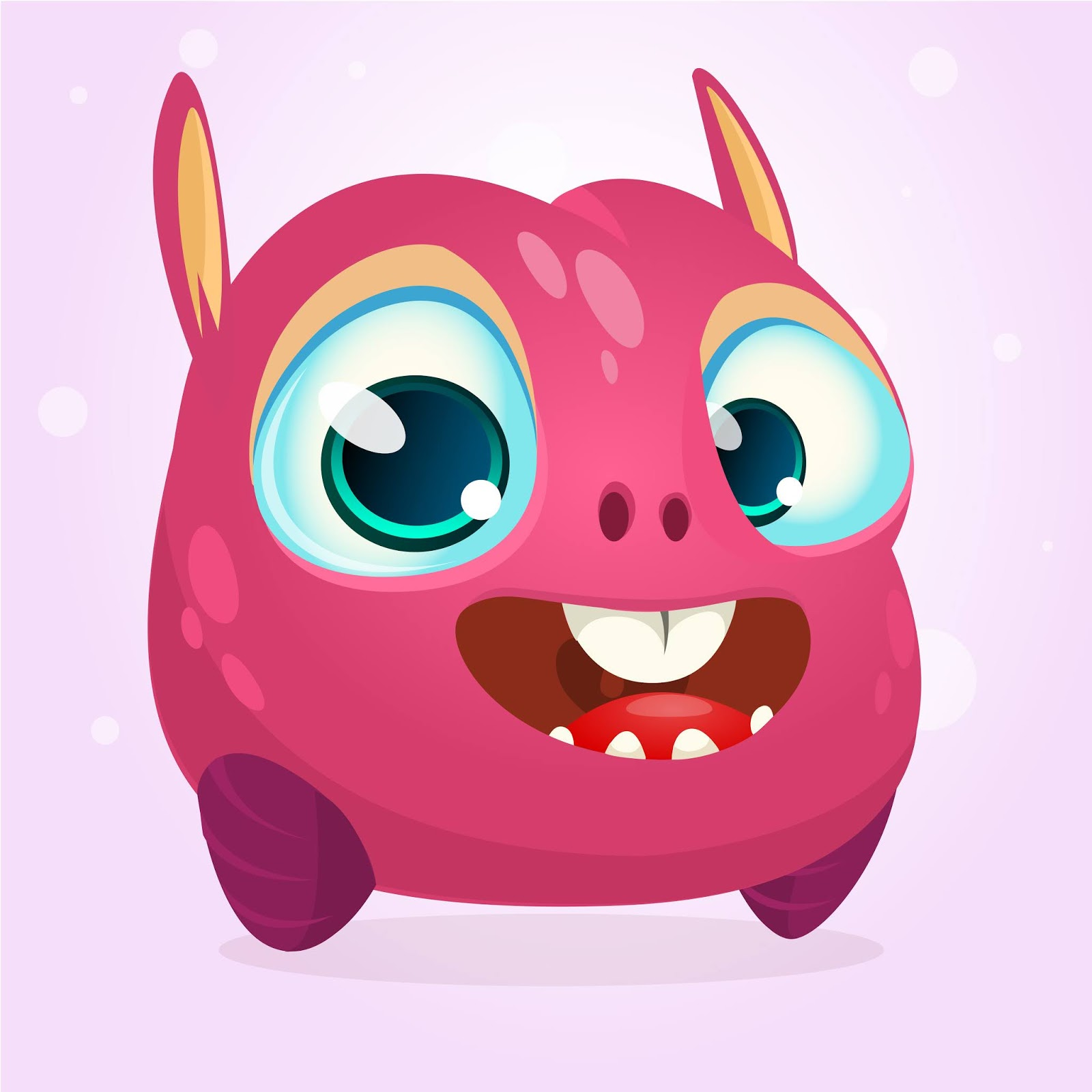 Cartoon Funny Monster Illustration Style Free Download Vector CDR, AI, EPS and PNG Formats