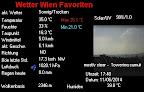 """Drückend schwül ist es geworden aber """"kälter"""" als gestern mit 35.1°C. Einige Gewitter sind bereits von Wien aus sichtbar und es ist nicht ausgeschlossen, das es auch noch bei uns gewittert am späten Abend. #Wetter #Wien #Hitzewelle"""