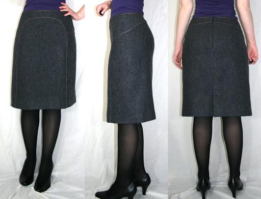 Burda 01-2007-111: Skirt (shetland wool, fully lined)