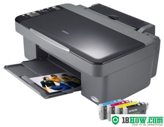 How to Reset Epson DX4000 lazer printer – Reset flashing lights error