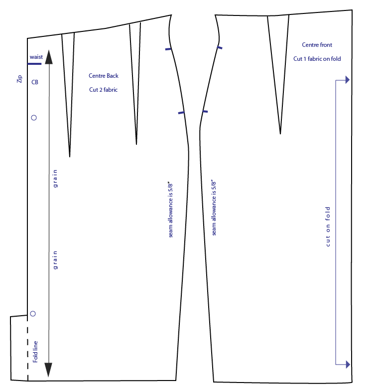 Pencil Skirt Sewing Pattern 62