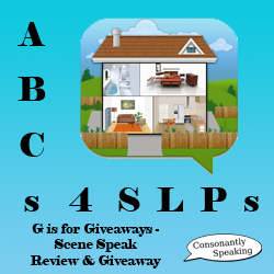 ABCs 4 SLPs: G is for Giveaways - Scene Speak Review and Giveaway image