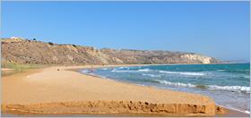 Sizilien - Agrigento - Der Badestrand des WWF-Naturschutzgebietes Torre Salsa.