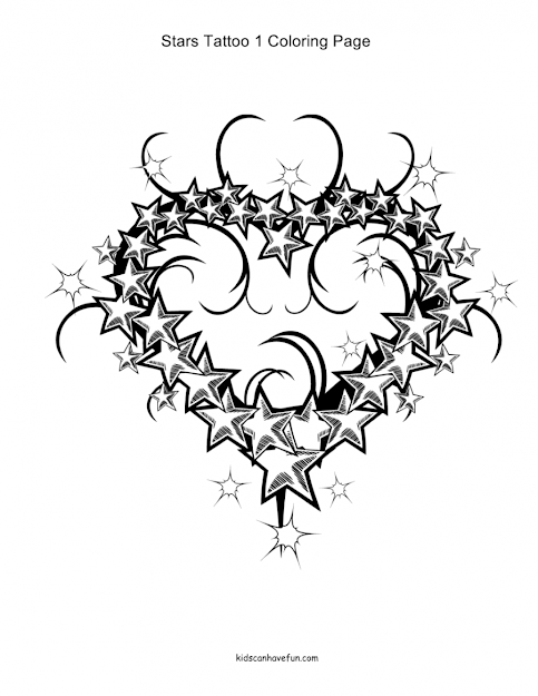 Hearts And Flowers Coloring Pages Card With Other Elementsbe