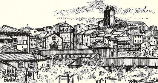 Lamego (1953). Desenho do médico lamecense J. Gonçalves Magno