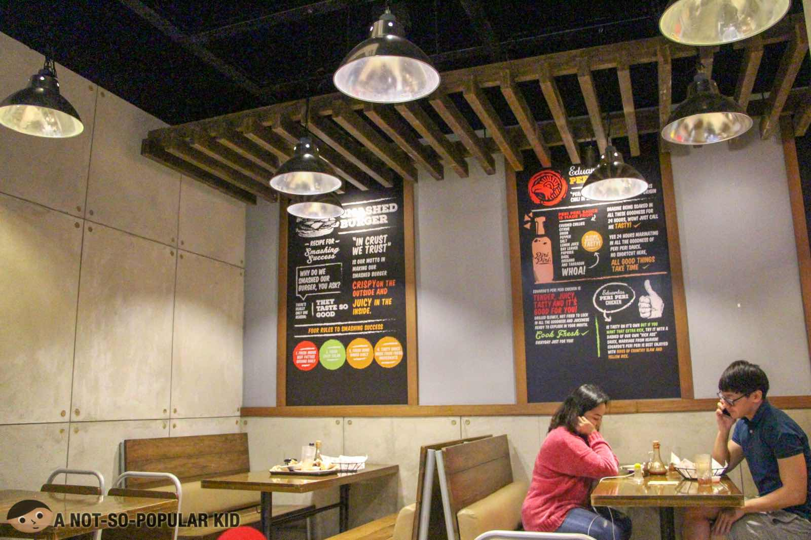 Interior of Eduardo's Peri-Peri Chicken in DLSU
