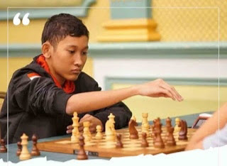 Gilbert Elroy Winner of online chess tournament