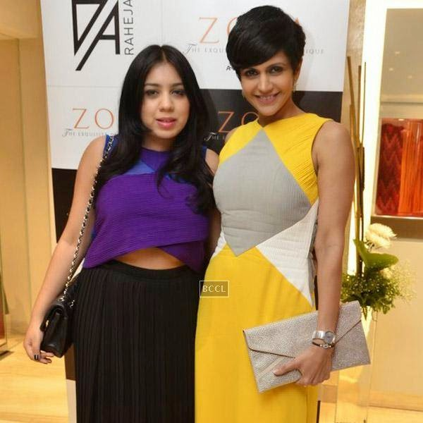 Mandira Bedi poses with Veda Raheja during a high tea party, held at Zoya on July 24, 2014.(Pic: Viral Bhayani)