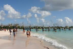 Beach and pier at the Boatyard, Barbados