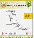 VVMC Mayor's Marathon 11km Race Route Map