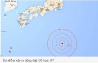 động đất 8,5 độ richter ngoài khơi Nhật Bản
