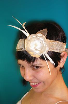 tocado años 20 para novia magnolia oju illa