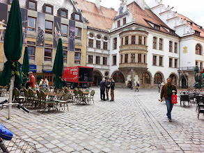 Photo: Platzl: This is a small square, the heart of Medieval Munich. It took 5 years just to clear all the brick from the WWII bombing. It was rebuilt from 1945-2000.