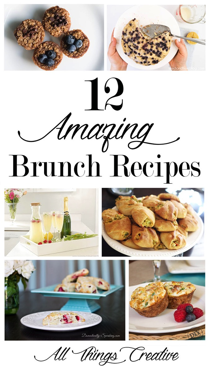 Delicious and Easy Brunch recipes. Perfect for breakfast, lunch a pot luck or a party!