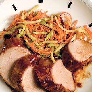 Hoisin Pork Tenderloin with Asian Carrot Salad.