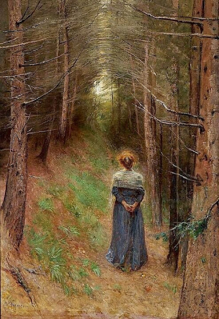 Bertha Wegmann - Pine forest in the Tyrol