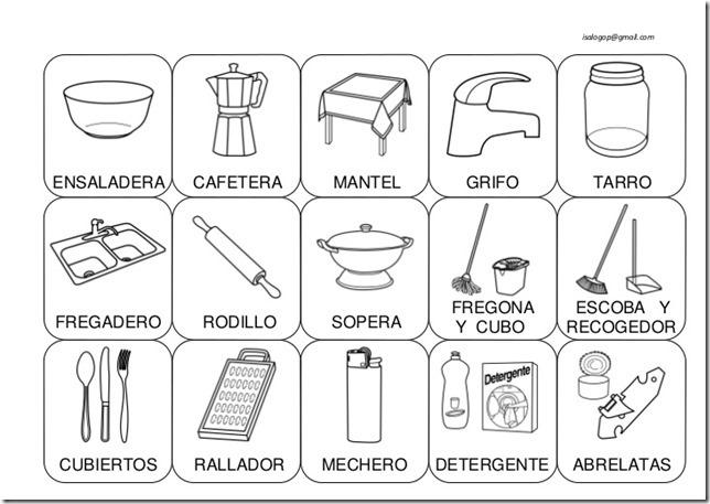 Fichas para colorear cosas de la casa for Cosas del hogar online
