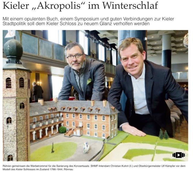 Chza1 Kieler Schloss Soll Zu Neuem Glanz Verholfen Werden
