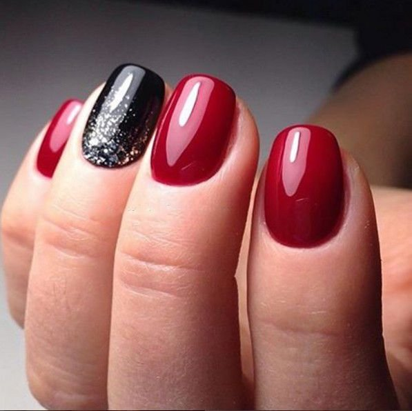 Easy red and black nail designs ideas - Fashion 2D