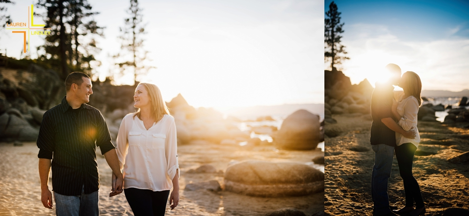 Sand Harbor Engagement Sesson