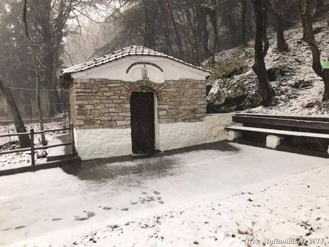 Τα πρώτα χιόνια στα ορεινά της Θεσσαλονίκης