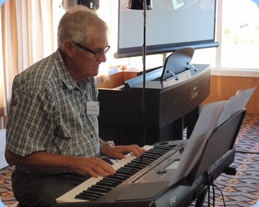 Peter Longbottom playing his Korg Pa600. Photo courtesy of Dennis Lyons.