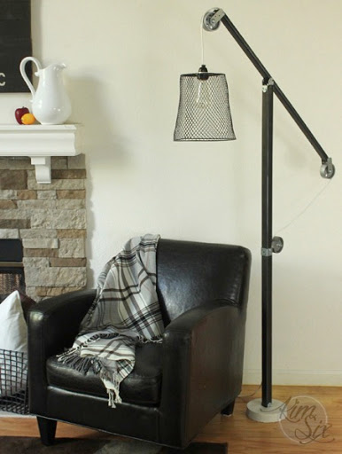 Metal Pulley Lamp DIY