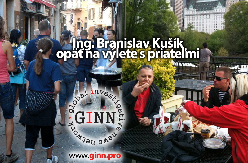 Branislav Kušík na výlete s priateĺmi