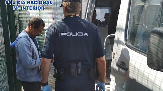 Imagen de uno de los detenidos en la operación de la Policía Nacional.