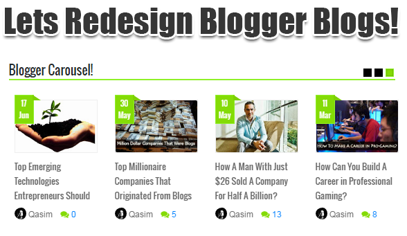 Blogger Carousel For Blogspot Blogs