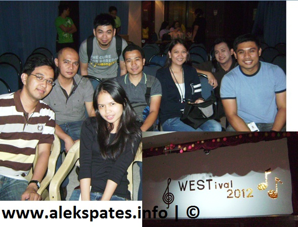 Flashback 2012, My self review 2012, West Idol, Mr. and Mrs. A – Regine Velasquez-Alcasid and Ogie Alcasid's Valentines Concert, Dulaang La Salle Araneta Ensemble (DLSAE), A is E for Laila, Mama's 60th birthday, West EIT Corporation Team Building at Padi sa Morong, Bataan, Oracle Day 2012 at The Peninsula Manila Hotel, North Korea's test rocket launch, Visita Iglesia, Ayreen and Mac-mac's wedding, First family vacation trip at Puerto Princesa, Palawan,  Puerto Princesa Underground River Oracle Developer Day 2012 at the Crowne Plaza Hotel, PA Circa 2001-2007 Reunites, Dolphy - the King of Philippine Comedy deceased, SIM Committee - The Dark Knight Rises, Philippines' monsoon tragedy, The Ideal Packaging, Team Philippines (Smart Gilas) Champion during the 34th William Jones' Cup, TheUnspoken acoustic band, Lynette's Birthday held in Los Banos Laguna, Road tripping Tagaytay and Alabang Town Center, 125 birthday greetings in facebook, Kojie.san Men product launching at Seventh High, Bonifacio High Street, 1st wedding gig of my acoustic band TheUnspoken at Oasis Pavilion - Iren and Carlo Chuawee's wedding, 4th National Theatre Festival at the CCP Complex, Rody Vera, IECEP's Annual General Membership meeting 2012 at the Philippine Trade and Training Center, Oracle event 2012 at Intercontinental Hotel, Blogopolis 2012, Nuffnang Philippines at Makati ShangriLa Hotel, Frontrow Enterprise. I joined because their products, Anti-Oxidants and Supplements speak for its results, Regine Velasquez-Alcasid lost her voice during her Silver concert at the MOA Arena, TheUnspoken was so blessed to have another gig at Vivere Hotel, Alabang, Atty. Noli Panganiban at his 75th Birthday, 8 Metro Manila Filmfest movies namely, One More Try, Si Agimat, and Sisterakas, New Year 2013 with only three of us in our home: my Mama and Daddy
