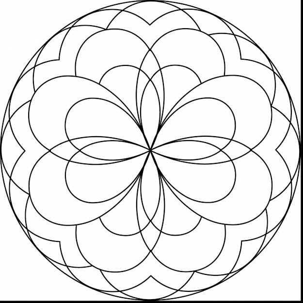 Astonishing Easy Mandala Coloring Pages For Kids With Free Printable Mandala  Coloring Pages And Free Printable