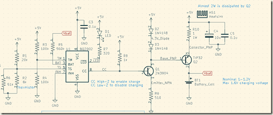 USB Ni-MH Battery Charger schematic