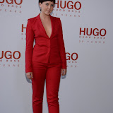 WWW.ENTSIMAGES.COM -   Alexandra Roach  attending  HUGO: RED NEVER FOLLOWS - private view / party of exhibition to celebrate 20th anniversary of Hugo Boss, featuring the brand's RED NEVER FOLLOWS project which saw it collaborate with 20 'urban creatives' from around the world July 30th 2013                                                     Photo Mobis Photos/OIC 0203 174 1069