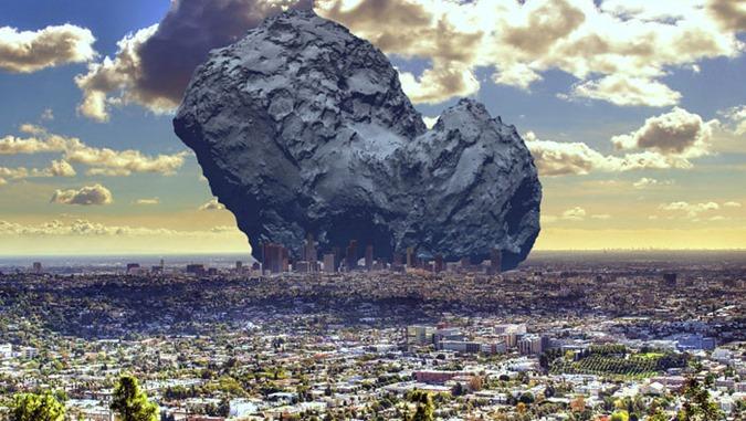 Asteroid imapct À beira da extinção