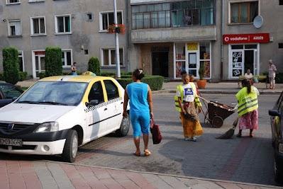 Straßenfeger in Orastie