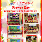 Flower Day Celebration at Witty World (BN) Playgroup 2015-16