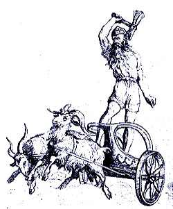 Thor In His Chariot, Asatru Gods And Heroes