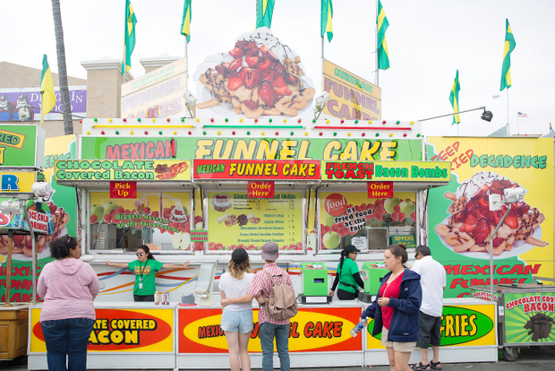 photo of the Mexican Funnel Cake booth