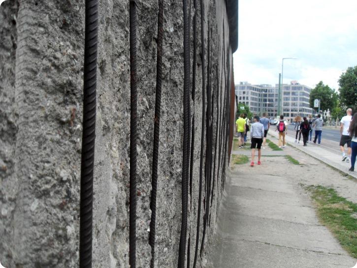 Armeret jernbeton - Muren, Bernauer Straße, Berlin