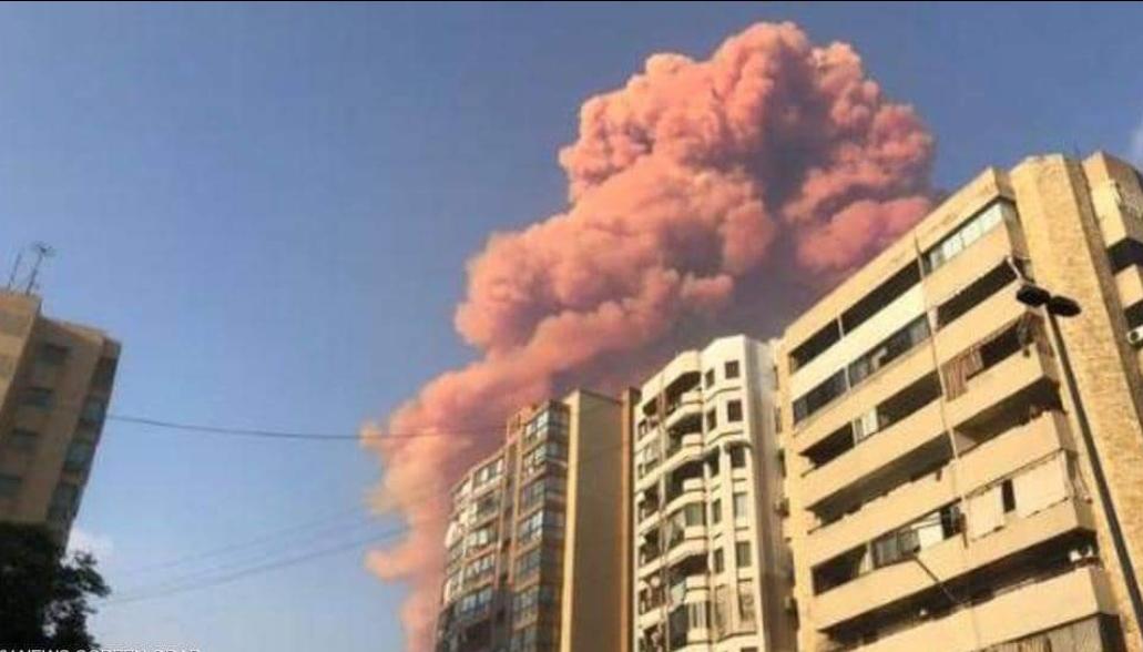 عاجل / لبنان : عشرات الجرحى في انفجار ضخم وسط العاصمة بيروت