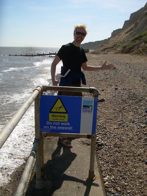 Fred being dangerous near Sheringham