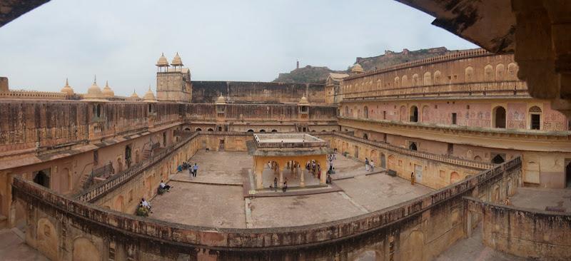 Patio interior del Fuerte de Amber, Jaipur, India