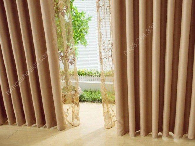 Rèm cửa sổ đẹp cao cấp một màu nâu vàng 6